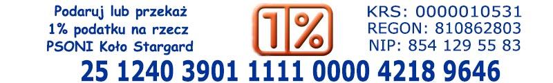 Przekaz darowizne lub 1% podatku dla PSONI Kolo w Stargardzie
